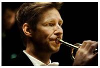 Bilde av trompetist Jonas Haltia