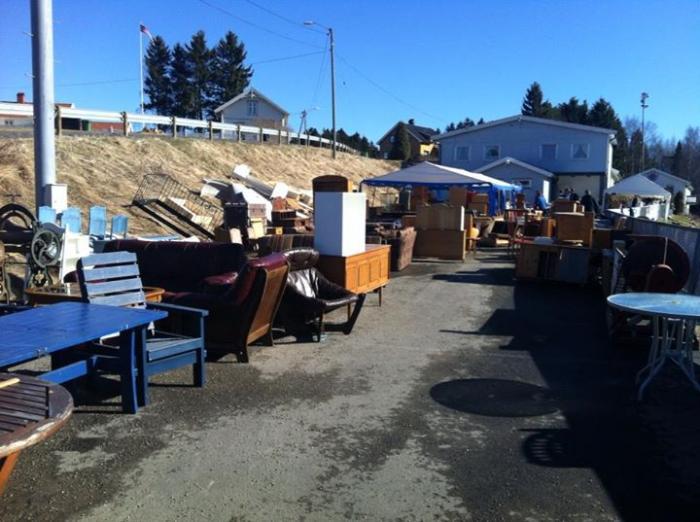 Sørum Skolemusikkorps sitt årlige loppemarked